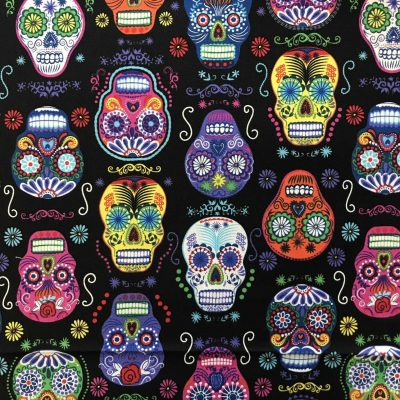 black sugar skulls accent panel mei tai pouch sling babywearing bag
