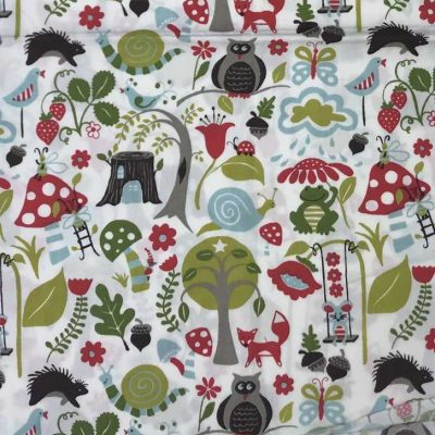 Woodland scene accent panel mei tai pouch sling babywearing bag