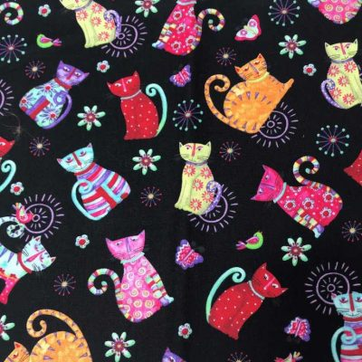 Colourful Cats accent panel mei tai pouch sling babywearing bag